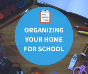 Organization for Back to School